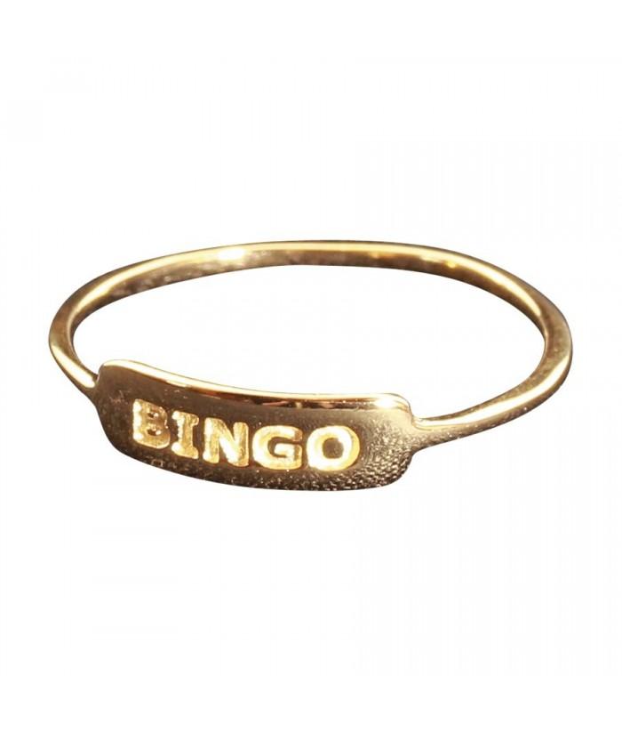 bague Bingo plaqu