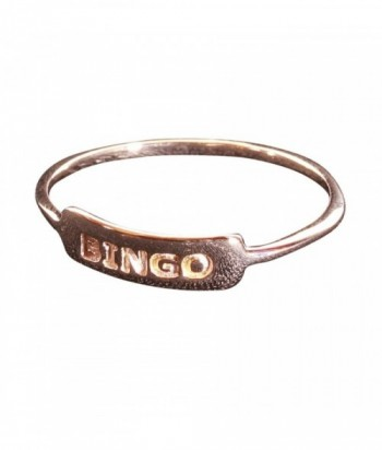 bague Bingo plaqué or rose 3M sur argent 925 garanti