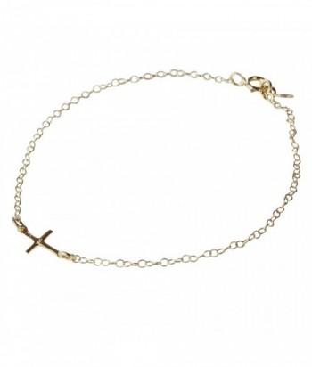 bracelet CROSS Croix et chain sur argent 925 garanti dor