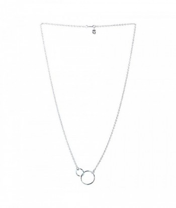 collier 2 mini cercle et chaine sur argent 925 garanti