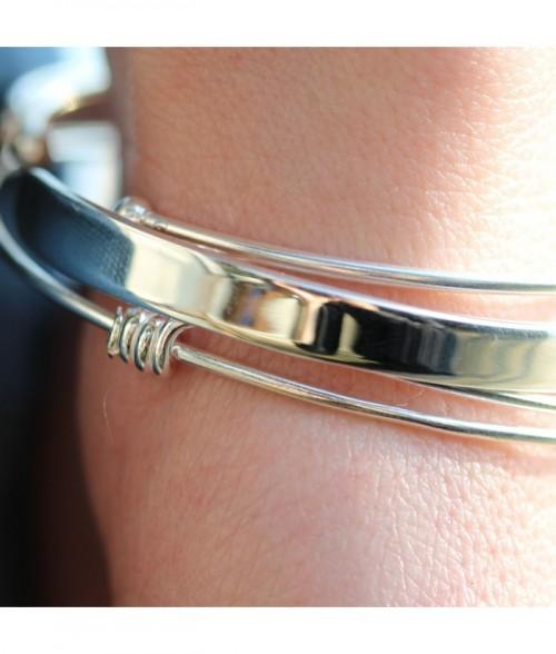 """Bracelet jonc """"Hector II"""" en argent"""