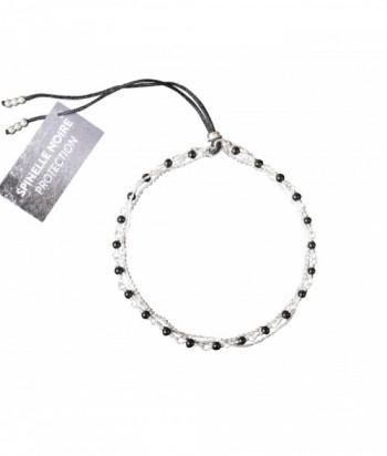 """Bracelet """"Nolwenn"""" pierres fines Spinelle noire sur chaine argent"""