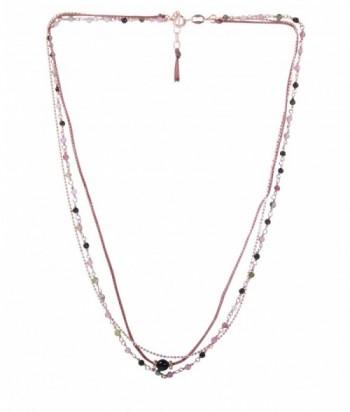 """Collier """"Pandora"""" pierres fines Tourmaline et chaine en doré rose sur argent"""