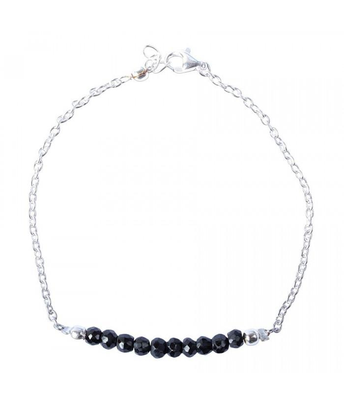 "Bracelet ""Palma"" pierre Black Spinel"