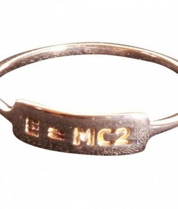 bague E  MC2 plaqué or rose 3M sur argent 925 garanti