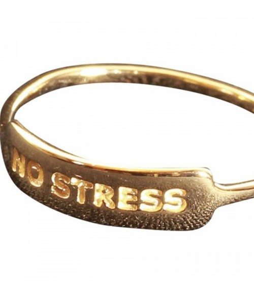 "Bague ""No Stress"" en plaqu"