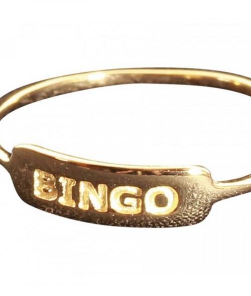 """Bague """"Bingo"""" en plaqu"""