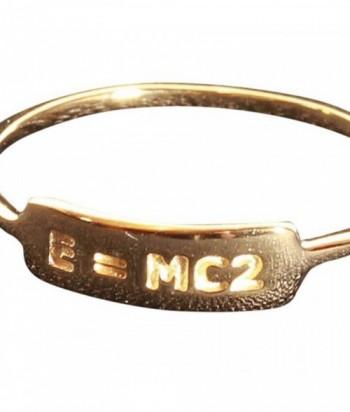 bague E  MC2 plaqué or 3M sur argent 925 garanti