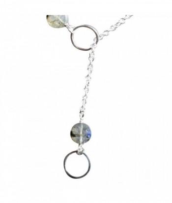 "TYA Collier ""Tya"" pendentifs Cercle sur chaine argent et pierres fines"