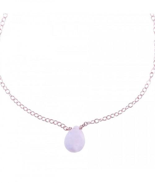 """Bracelet """"Pimprenelle"""" pierre naturelle sur chaine dor"""