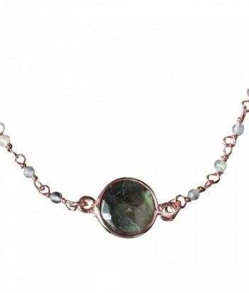 """Bracelet """"Umika"""" pierre fine et chaine dor"""
