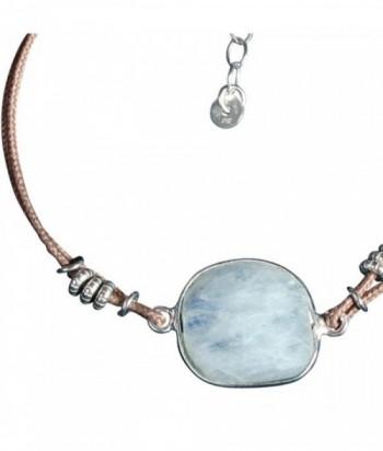 """Bracelet """"Kim"""" pierre fine, cordon et perles argent"""