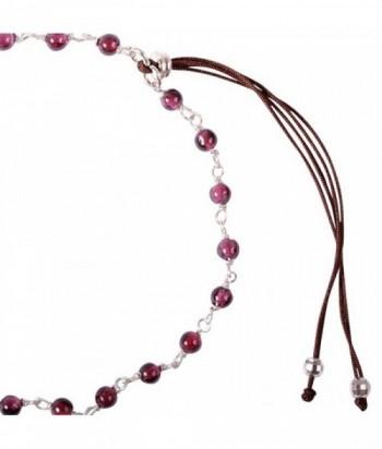 """Bracelet """"Pepita II"""" pierres naturelles sur chaine en argent et cordon polyester"""