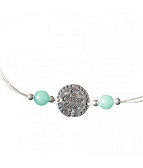 "Bracelet ""Antigone"" pierres fines et perles argent"