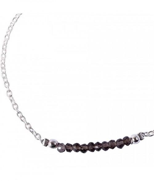 """Bracelet """"Palma"""" pierre Quartz Fum"""