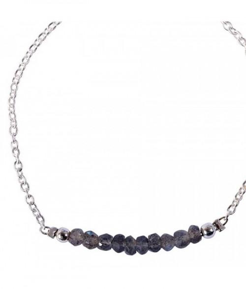 """Bracelet """"Palma"""" pierre Labradorite sur argent"""