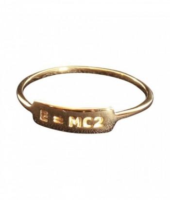 bague E  MC2 plaqu