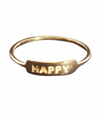 bague Happy plaqu