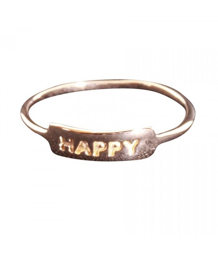 bague Happy plaqu