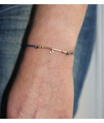 """Bracelet """"Hippolyte"""" doré rose"""