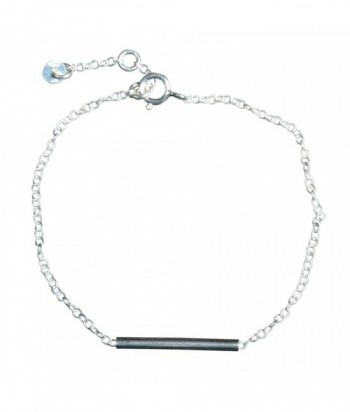 Bracelet Betty, barette lisse et chaine en argent