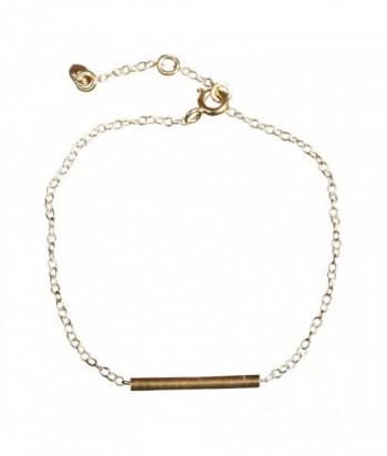 Bracelet Betty, barette lisse et chaine en dor