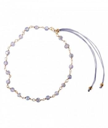 "Bracelet ""Pepita II"" pierres naturelles sur chaine dor"