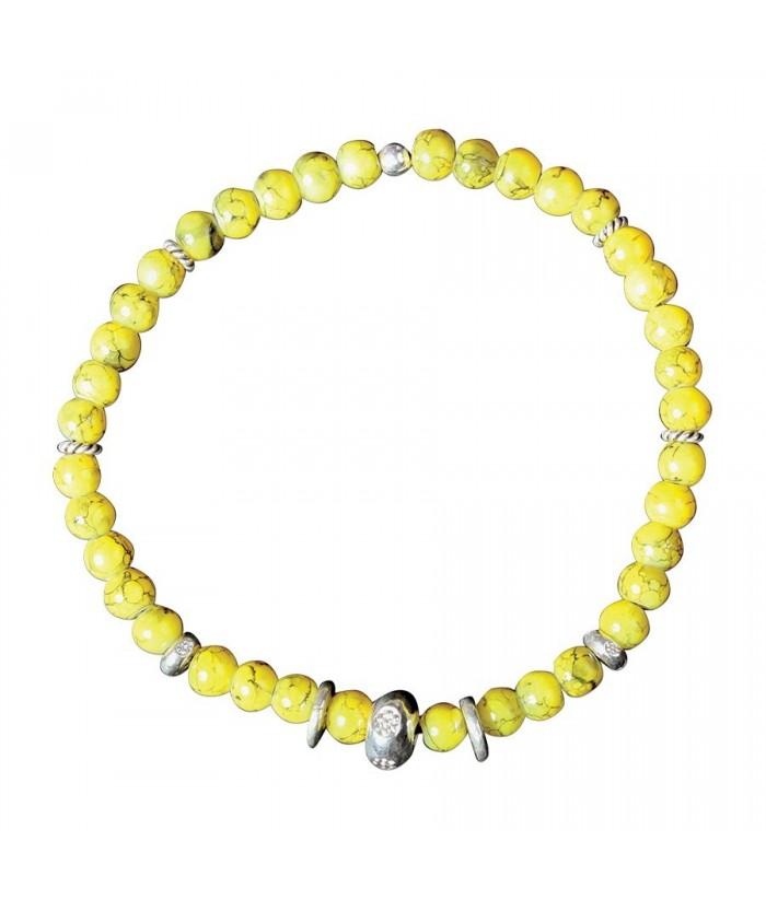 "Bracelet ""Odina"" perles argent et perles de verre"