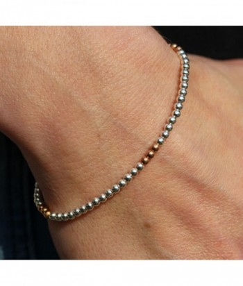 "Bracelet ""Hayley"" argent et dor"