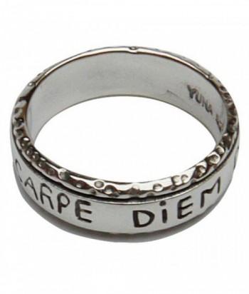 """Bague """"Carpe Diem"""" minuscule argent"""