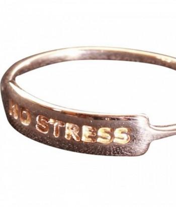 """Bague """"No Stress"""" en plaqu"""