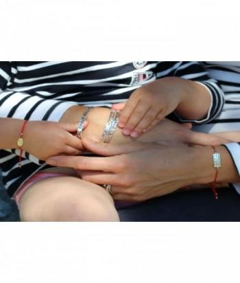 """Bracelet """"Oracle II"""" message en argent sur cordon"""