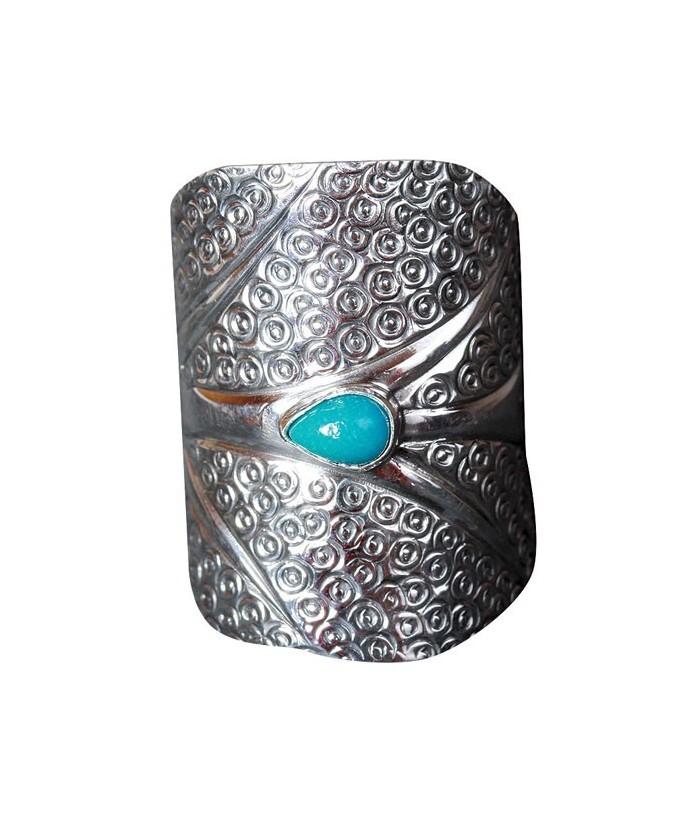 """Bague """"Namata"""" en argent et Turquoise véritable"""