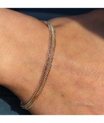 """Bracelet """"Colette"""" en doré rose sur argent"""