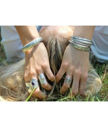 "Bracelet jonc ""Luludji"" en argent 925 garanti"