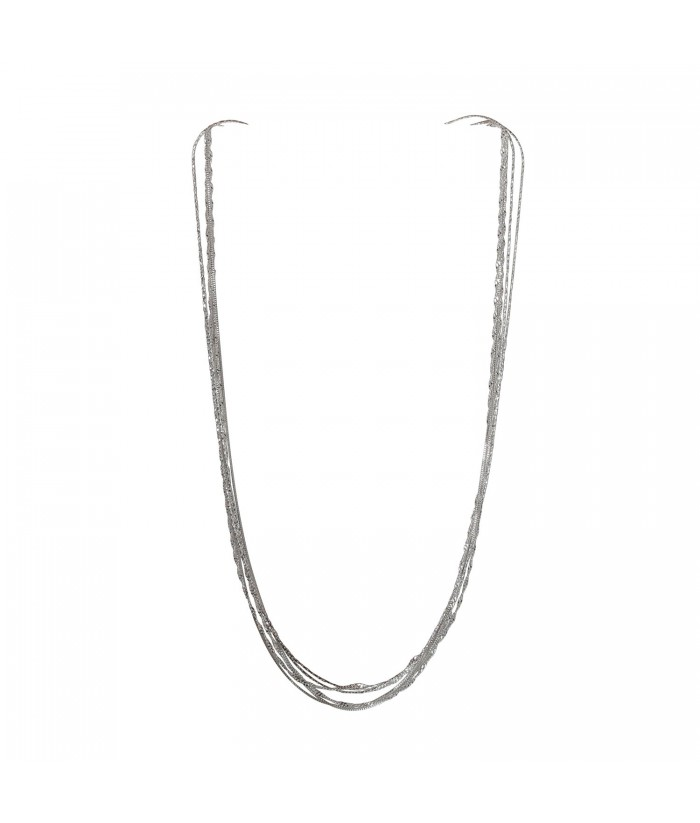 collier argent 3 chaines